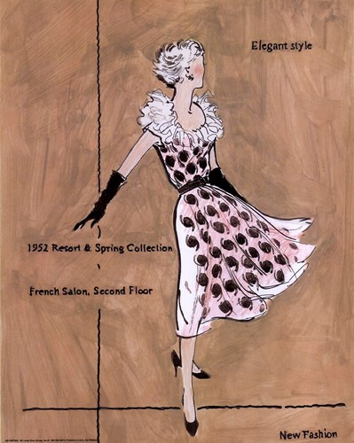 50's Dept Store Ads Elegant Style Poster by Del Walters for $17.50 CAD