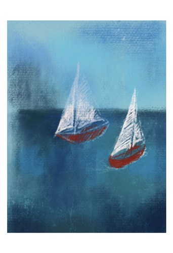 Two Red Sailboats Poster by Boho Hue Studio for $22.50 CAD