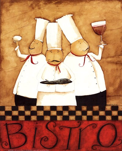 3 Chefs Wine Bistro 2 Poster by Dan Dipaolo for $11.25 CAD
