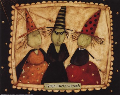 3 witches Poster by Dan Dipaolo for $11.25 CAD