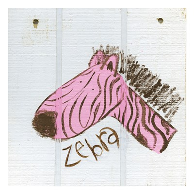 Happy Pink Zebra Poster by Erin Butson for $18.75 CAD