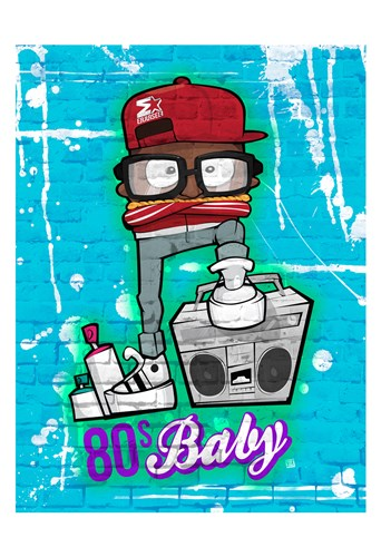 80s Baby Poster by Enrique Rodriquez Jr for $22.50 CAD