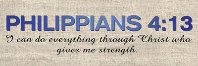 Philippians 4:13 Poster by Lauren Gibbons for $18.75 CAD