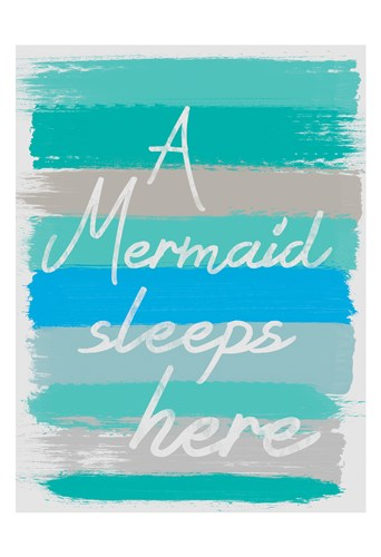 Mermaid Sleep Poster by Lauren Gibbons for $22.50 CAD