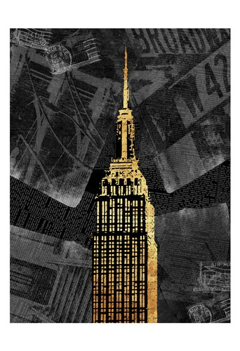 Gold NY Poster by Jace Grey for $22.50 CAD