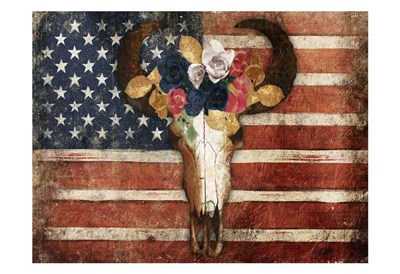 American Floral Bull Poster by Jace Grey for $22.50 CAD