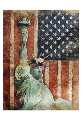 Statue Of America Poster by Jace Grey for $22.50 CAD