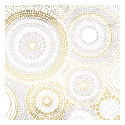 Gold Silver Dots Poster by Jace Grey for $18.75 CAD