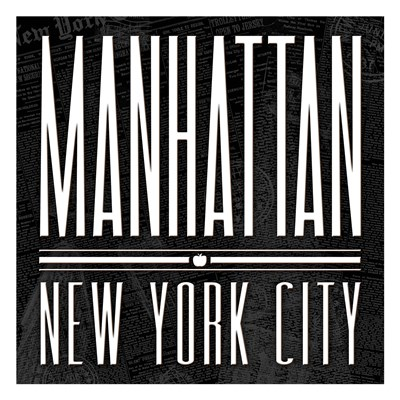 Manhattan Black White Poster by Jace Grey for $18.75 CAD