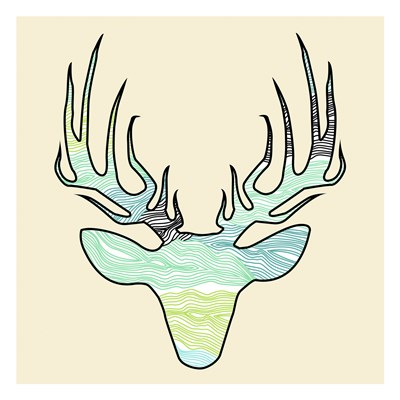 Deer Teal Green Poster by Jace Grey for $18.75 CAD