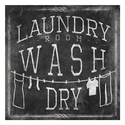 Chalkboard Laundry Poster by Jace Grey for $18.75 CAD