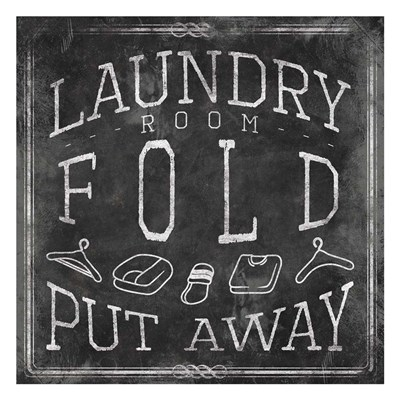 Chalkboard Laundry Mate Poster by Jace Grey for $18.75 CAD