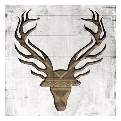 White Wood Deer Poster by Jace Grey for $18.75 CAD