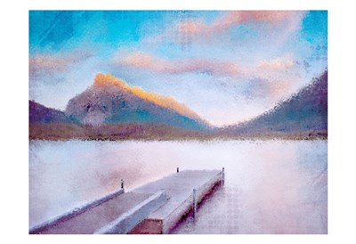 Banff Dock Poster by Kimberly Allen for $22.50 CAD