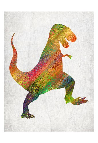 Bright Dino 1 Poster by Kimberly Allen for $22.50 CAD