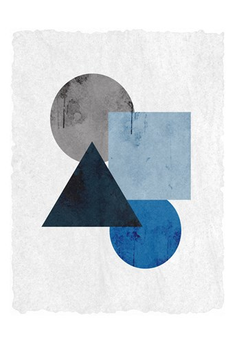 Blue Shapes 1 Poster by Kimberly Allen for $22.50 CAD