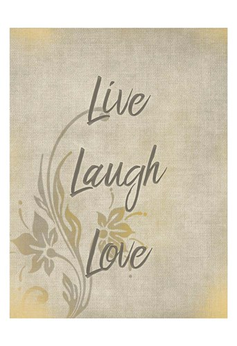 Live Laugh Love Poster by Kimberly Allen for $22.50 CAD