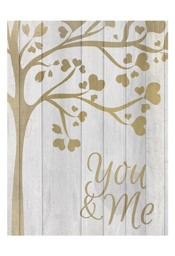 You and Me Hearts Poster by Kimberly Allen for $22.50 CAD