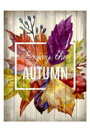 Enjoy Autumn Poster by Kimberly Allen for $22.50 CAD