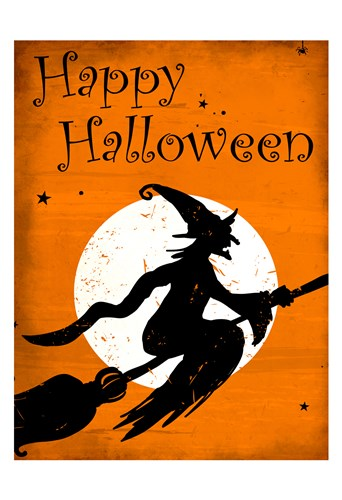 Happy Halloween Witch Poster by Kimberly Allen for $22.50 CAD