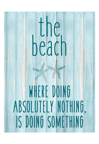 The Beach Poster by Kimberly Allen for $22.50 CAD