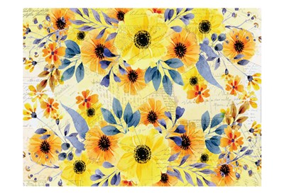 Yellow Summer Blooming Poster by Kimberly Allen for $22.50 CAD