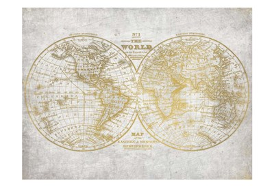 No. 1 World Map Poster by Kimberly Allen for $22.50 CAD