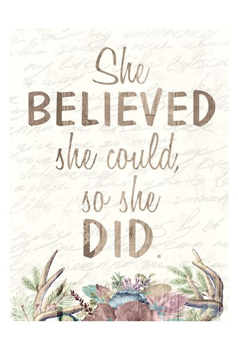 She Believed Poster by Kimberly Allen for $22.50 CAD
