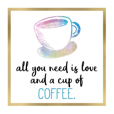 Just Coffee 9 Poster by Kimberly Allen for $18.75 CAD