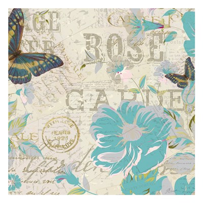 Carte Postal Floral 3 Poster by Kimberly Allen for $18.75 CAD