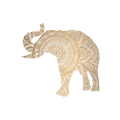 Elephant Gold 3 Poster by Kimberly Allen for $18.75 CAD
