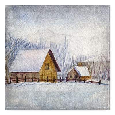 Winter on the Farm Poster by Kimberly Allen for $18.75 CAD