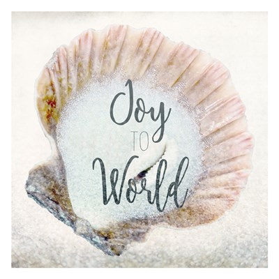 Joy to the World Shell Poster by Kimberly Allen for $18.75 CAD