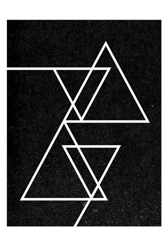 Black Triangle Poster by Gigi Louise for $22.50 CAD