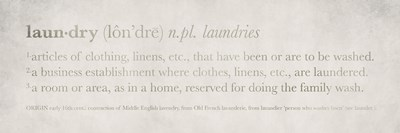 Definitions Laundry Poster by Kristen Emery for $18.75 CAD