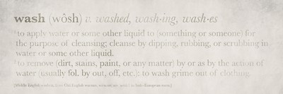 Definitions Wash Poster by Kristen Emery for $18.75 CAD