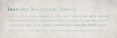 Definitions Laundry Blue Poster by Kristen Emery for $18.75 CAD