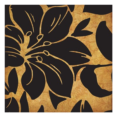 Black and Gold Flora 1 Poster by Kristen Emery for $18.75 CAD