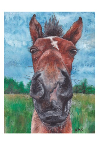 Horse Brown Poster by KAK Art & Design for $22.50 CAD