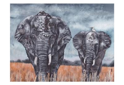 Elephants Poster by KAK Art & Design for $22.50 CAD