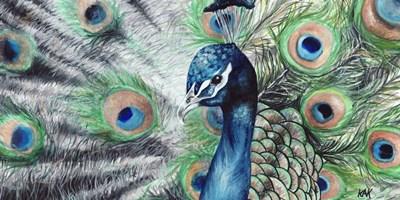 Peacock 2 Poster by KAK Art & Design for $22.50 CAD