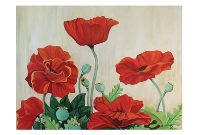 Poppies 3 Poster by Lori Gomez for $22.50 CAD