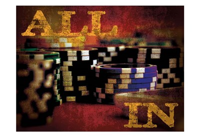 All In Casino Grunge 4 Poster by Melody Hogan for $22.50 CAD