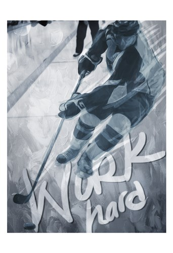 Work Hard Poster by Milli Villa for $22.50 CAD