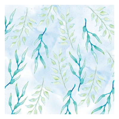 Blue Floral Pattern 1 Poster by Orane Fraser for $18.75 CAD