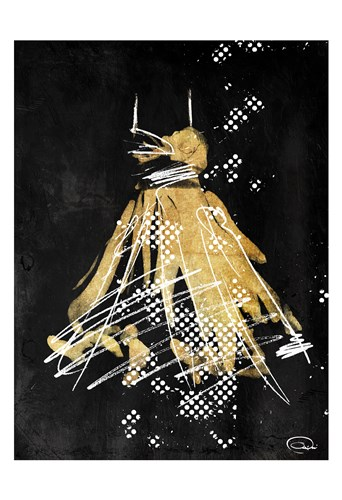 Gold Dress White Dots Two Poster by OnRei for $22.50 CAD