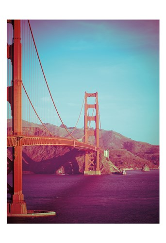 Retro Golden Gate Poster by Sonja Quintero for $22.50 CAD
