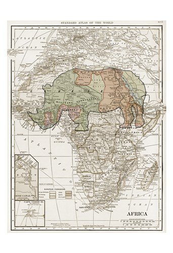 Safari Map Poster by Sheldon Lewis for $22.50 CAD