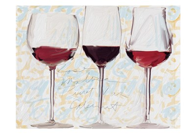 Three Glasses Poster by Sarah Butcher for $22.50 CAD