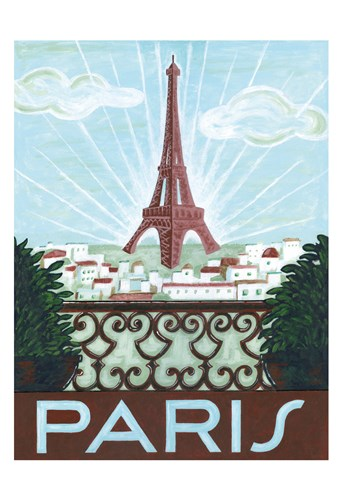 Paris View Poster by Thom Reaves for $22.50 CAD